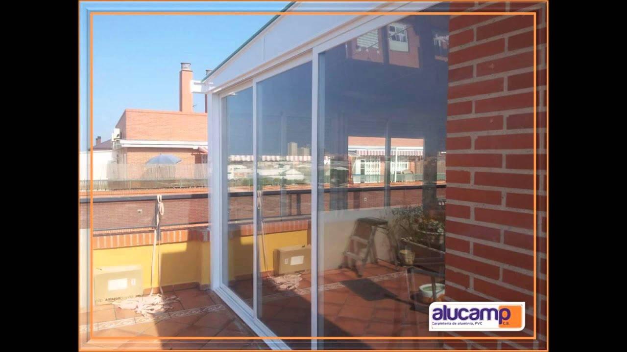 Cerramiento terraza formado por ventanas correderas y for Casetas aluminio para terrazas