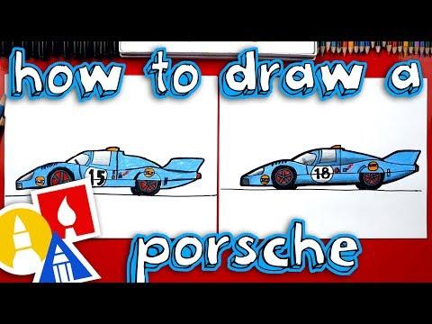 How To Draw A Porsche Race Car