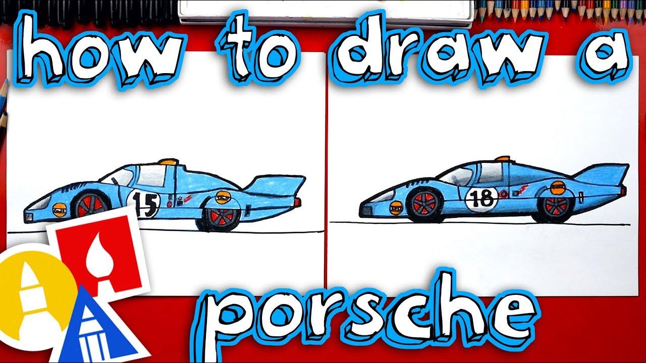 How To Draw A Porsche Race Car - YouTube