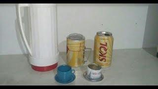 Como fazer garrafa de café de latinha em miniatura