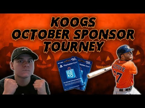 OCTOBER SPONSOR TOURNAMENT! $50 PSN PRIZE! | MLB The Show 17