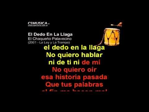 Folklore   El Dedo En La Llaga   Karaoke