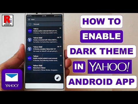 HOW TO ENABLE DARK THEME IN YAHOO MAIL ANDROID APP (2019)