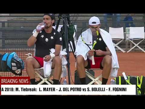 ROMA 2018 : M.Tiebreak: 11/9 L. MAYER - J. DEL POTRO vs S. BOLELLI - F. FOGNINI