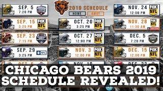 Chicago Bears 2019 Season Schedule Revealed!