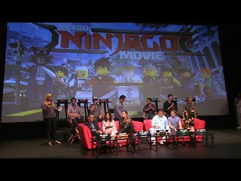 """The LEGO NINJAGO Movie"" Press Conference w/ cast (Jackie Chan, Dave Franco, Olivia Munn & more)"