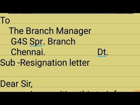 Resignation Letter// My Resignation Letter/G4S // Barsola Assam