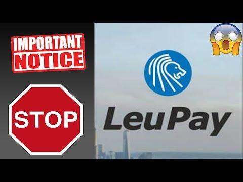 Lajme Te Keqija Nga LeuPay / LeoPay. Shikoni Kete Video Para Se Te Regjistroheni
