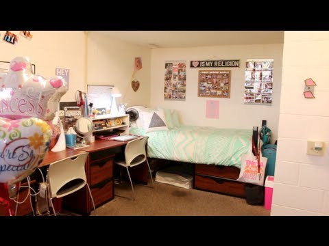 COLLEGE DORM ROOM TOUR YouTube