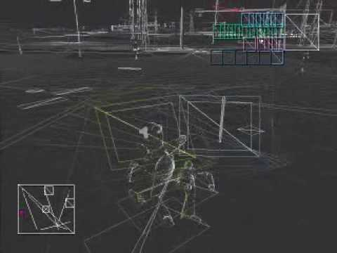 GTA Vice City in Wireframe without Textures (Trippy)