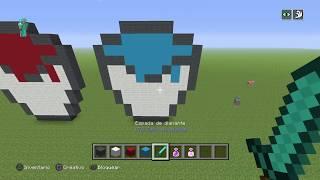 minecrat pixel art cubos de agua y lava (como hacer un cubo grande en minecraft) patoGamer
