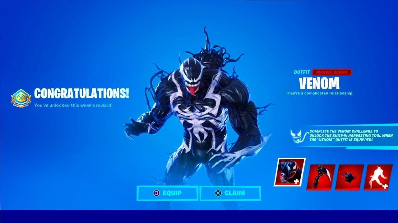 Venom Free Skin Unlocked In Fortnite Youtube You can also upload and share your favorite venom fortnite wallpapers. venom free skin unlocked in fortnite