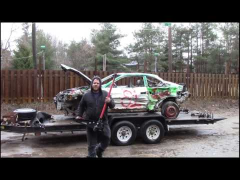 toyota solara used derby car, cheap way to get parts to fix your derby cars