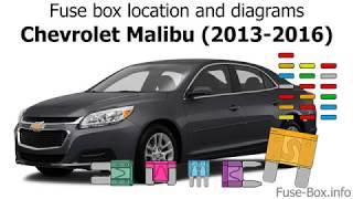 Fuse Box Location And Diagrams Chevrolet Malibu 2013 2016 Youtube