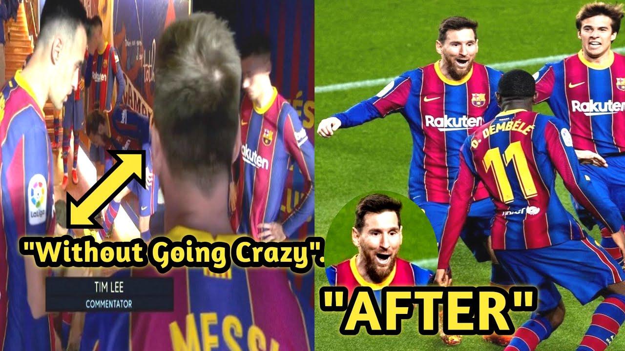 Lionel Messi's leadership talk in tunnel• Barcelona Vs Real Valladolid