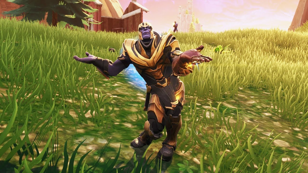 New Thanos In Fortnite Showcased With 20 Dances Emotes Orange