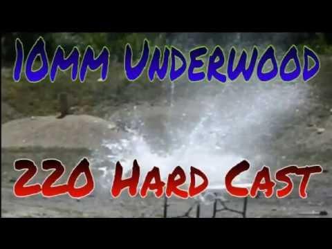 10mm Underwood Ammo 220gr Hard Cast vs 14 Water Jugs