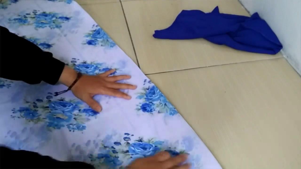 DIY jilbab / How to make hijab / tutorial membuat kerudung kombinasi sendiri