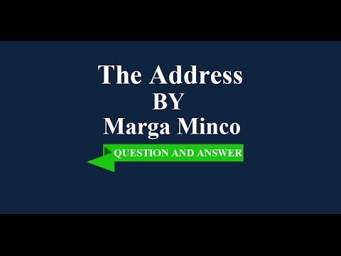 The address marga minco analysis essay