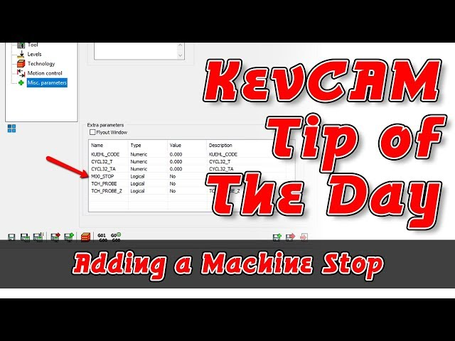 Tip of the Day - Insert a Machine Stop