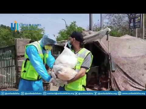 UNITED SIKHS Volunteers Team Stands With Rag Pickers In Slum Areas | COVID-19 Update.