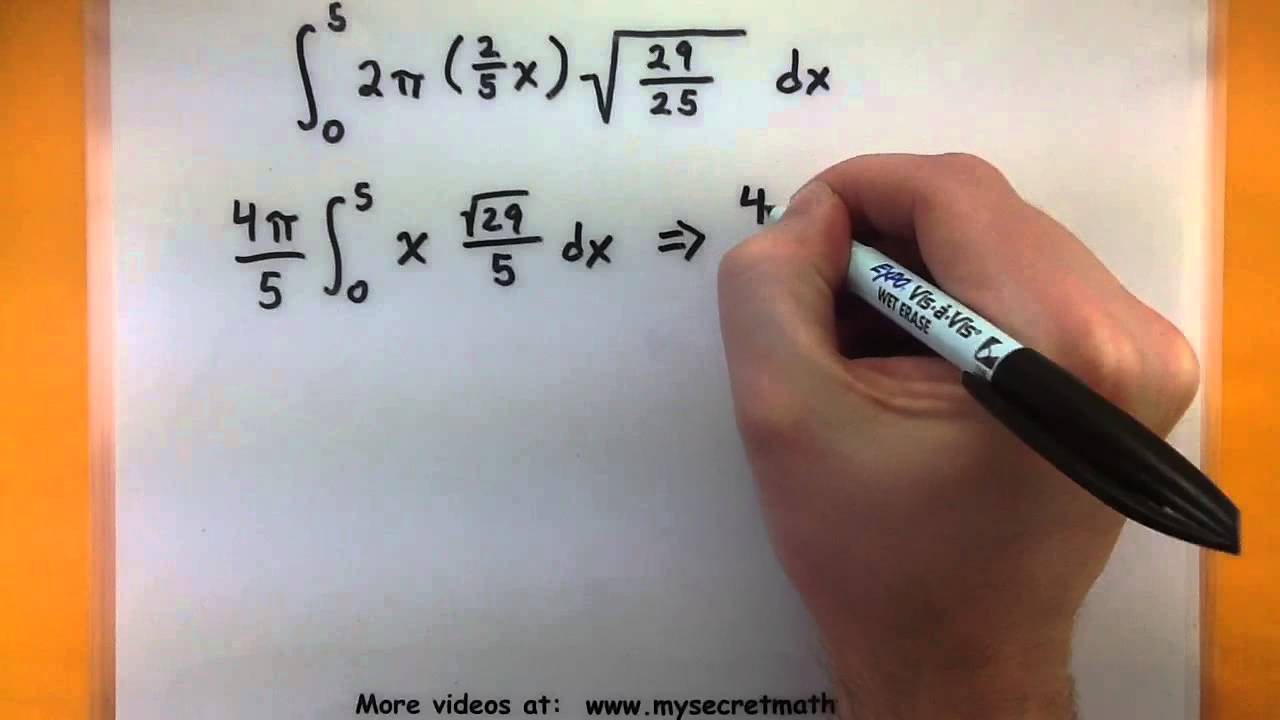 Calculus using the surface area formula youtube ccuart Image collections
