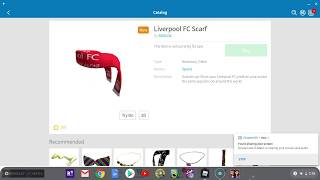Roblox New offsale item? Liverpool FC Scarf