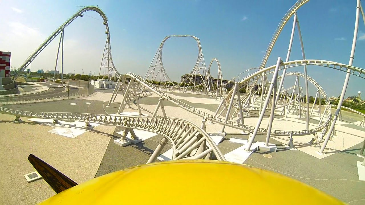 Flying Aces Roller Coaster Front Seat Pov Ferrari World Abu Dhabi Uae Youtube