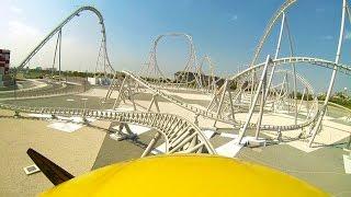 Flying Aces Roller Coaster Front Seat POV Ferrari World Abu Dhabi UAE