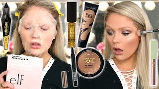 TESTING NEW DRUGSTORE MAKEUP   FULL FACE FIRST IMPRESSIONS