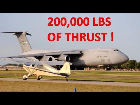 Amazing Full Power Short Takeoff C-5M Galaxy USAF