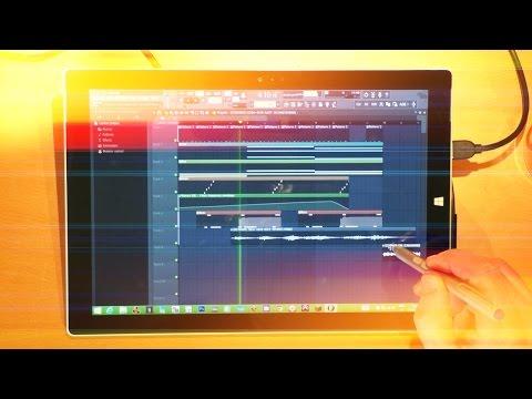Image Line FL Studio 12 Improvisation on the Surface Pro 3