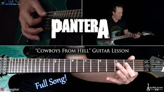 Cowboys From Hell Guitar Lesson (Full Song) - Pantera