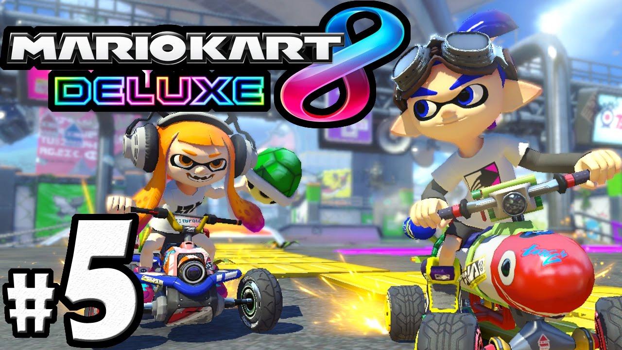 Mario Kart 8 Deluxe Part 5 Switch Gameplay Walkthrough Battle Mode Tournament Inkling Inkstriker