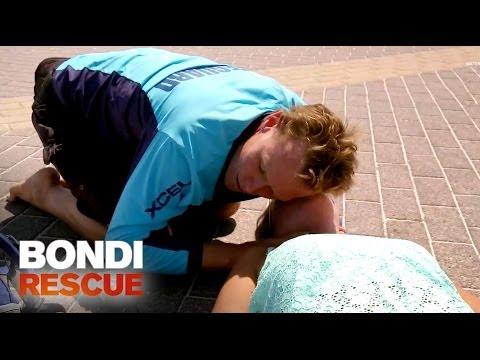Woman Suddenly Falls Unconscious | Bondi Rescue S9