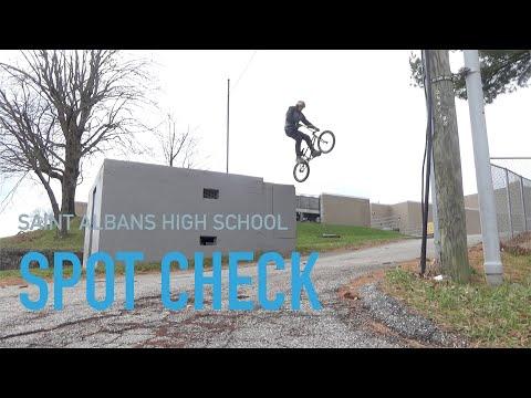 BMX Spot Check #1 Saint Albans High school