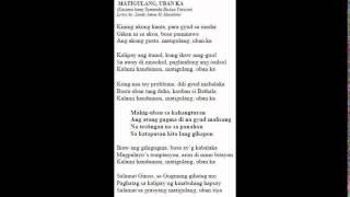 Matigulang, Uban ka (audio and lyrics)