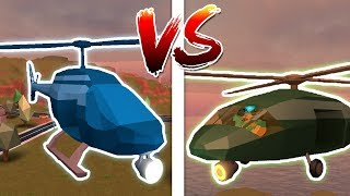 MILITARY HELICOPTER VS POLICE HELICOPTER! (Roblox Jailbreak)