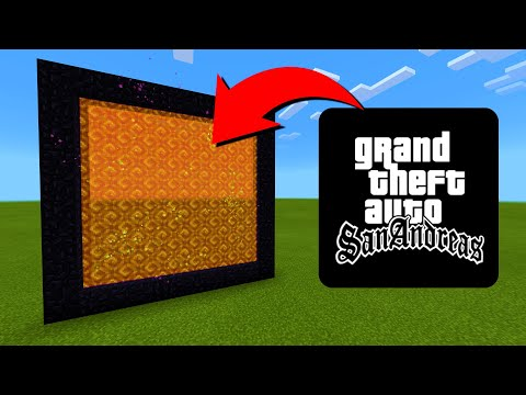 How To Make A Portal To The GTA San Andreas Dimension In Minecraft!