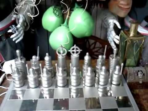 Steel Chess Set stainless steel chess set - youtube