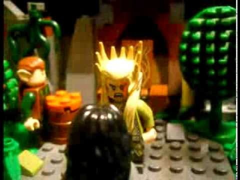 Lego: The Hobbit : How Thranduil came to the scar. - YouTube