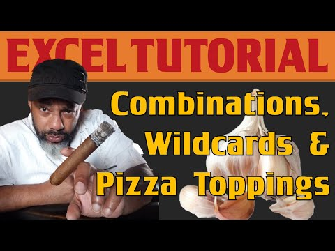 Excel, COUNTIFS, Wildcards and the Most Popular Trio of Pizza Toppings