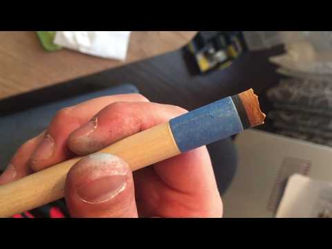 Changing A Cue Tip By Hand. Part 5 - Final
