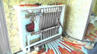 Как сделать тёплые полы,часть 4    заполнение водой петель пола, опрессовка системы