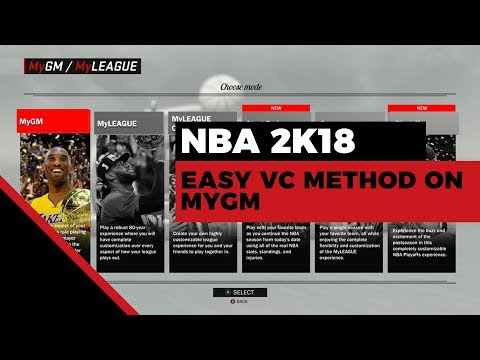 NBA 2K18 Fastest Way to Earn VC | MyGM