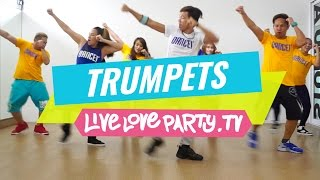 Trumpets | Zumba® | Live Love Party | Dance Fitness | Trumpets Challenge |  #DUTTYSTEPPINZ(DUTTYSTEPPINZ Zumba® with Aris, Madelle, Gail, Michael, Che, Mark and Krisza If you liked this video, don't forget to give it a thumbs up and subscribe to our ..., 2016-06-18T00:46:38.000Z)