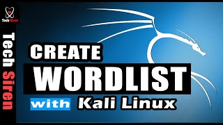 How to create wordlist in kali linux