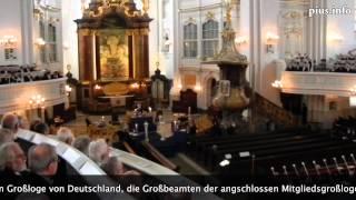Freimaurerritual im Hamburger Michel