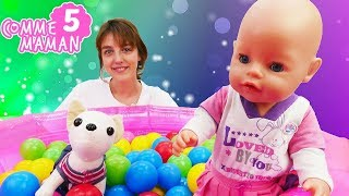 Vidéo en français pour enfants. Comme maman № 5: jeu de puzzle avec le Bébé Born Emily