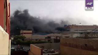 شاهد...الحماية المدنية تنقذ مصنع فوم بمدينة بدر من كارثة